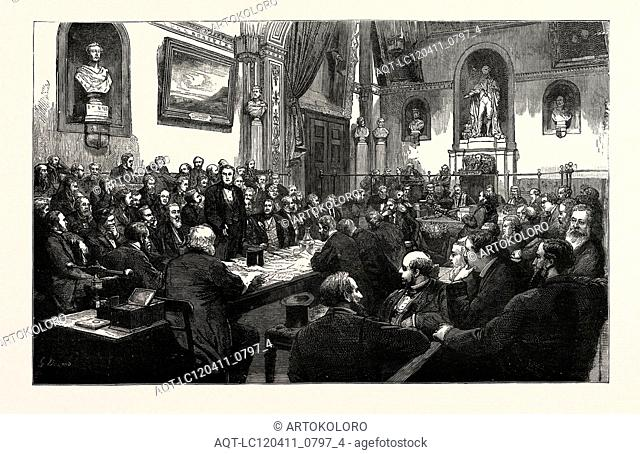 A MEETING OF THE COMMON COUNCIL AT THE GUILDHALL, LONDON, UK