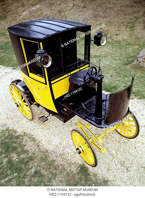 1897 Bersey Electric Taxi. This was the first type of self-propelled cab licensed for hire in London and came from the fleet of the London Electrical Cab...