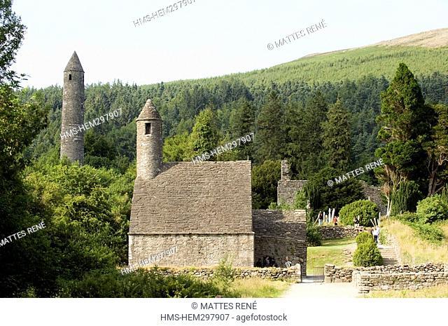 Ireland, Wicklow County, region of Wicklow Mounts, monastic site of Glendalough