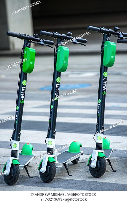 Lime-S electric rental scooters, Vienna, Austria