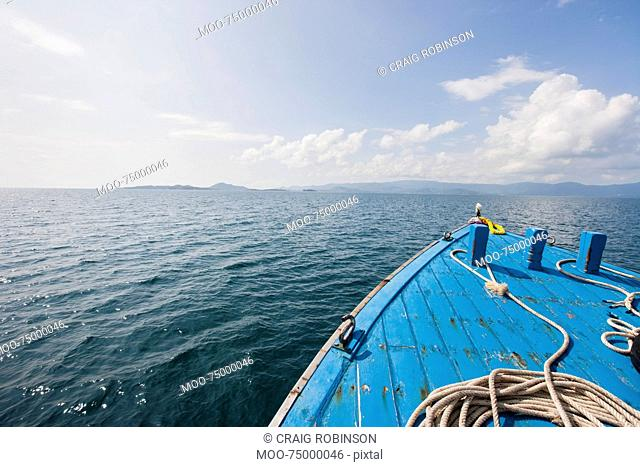 Bow of boat on sea, Koh Samui, Thailand