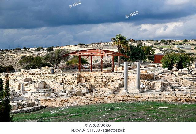 Bischofskirche Basilika, Ausgrabungsstaette, Kourion, Zypern