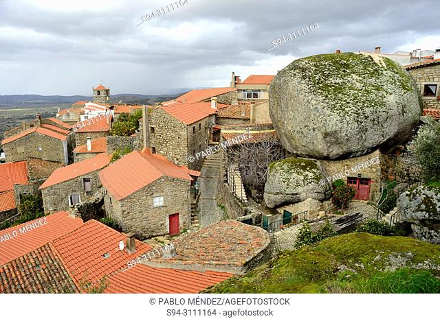 View of the rooves and rocks of Monsanto, Castelo Branco, Portugal