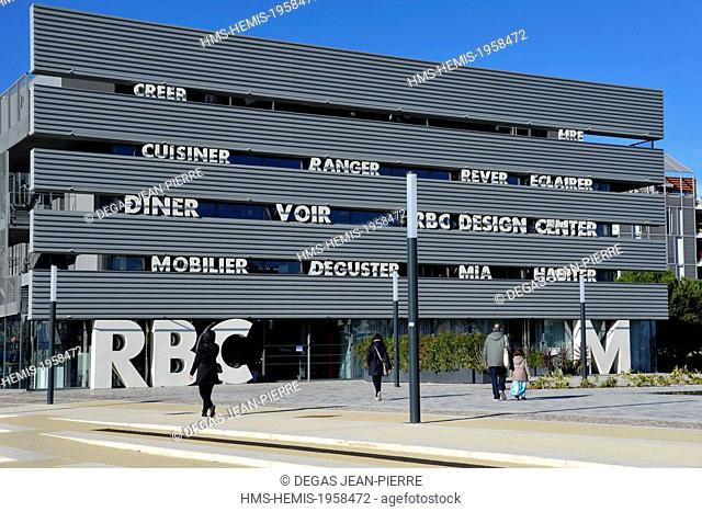 France, Herault, Montpellier, Park Marianne district, Raymond Dugrand avenue, Design RBC Center building, multifunctional complex created by Jean Nouvel Studios