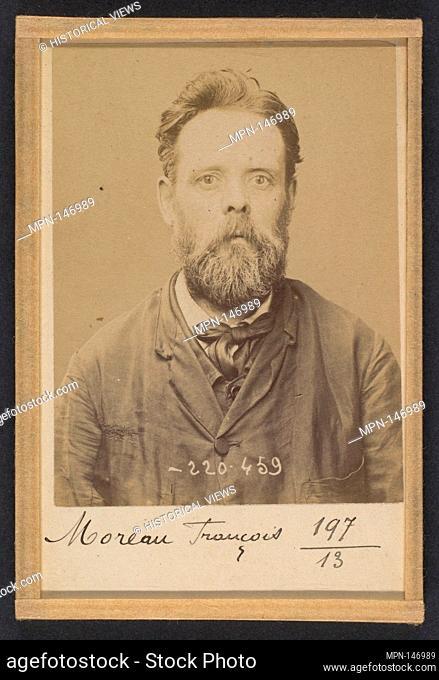 Moreau. François. 47 ans, né le 19/11/46 à Nevers (Nièvre). Menuisier: Anarchiste. 2/7/94. Artist: Alphonse Bertillon (French