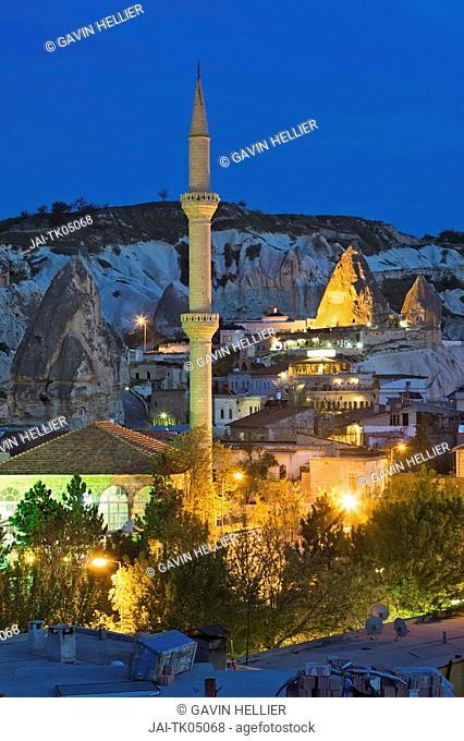 Goreme and Volcanic tufa rock formations, Cappadocia, Turkey