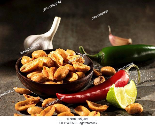 Sriracha and lime kettle peanuts