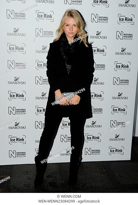 Natural History Museum Swarovski Ice Rink Launch Party in London. Featuring: Lottie Moss Where: London, United Kingdom When: 28 Oct 2015 Credit: WENN
