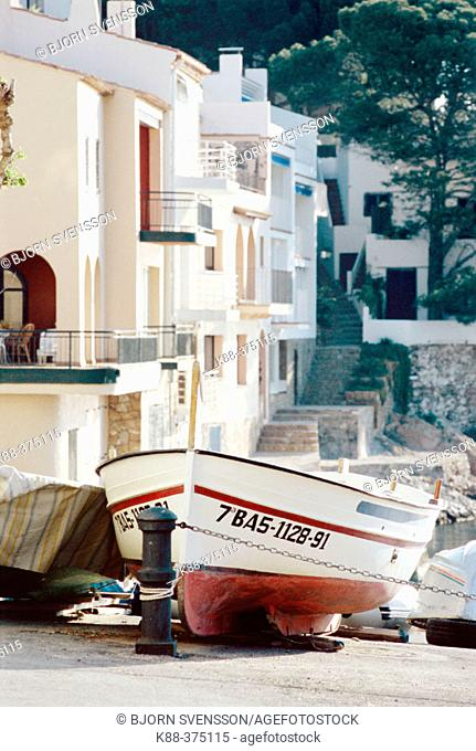 Sa Tuna harbour. Costa Brava, Girona province, Spain
