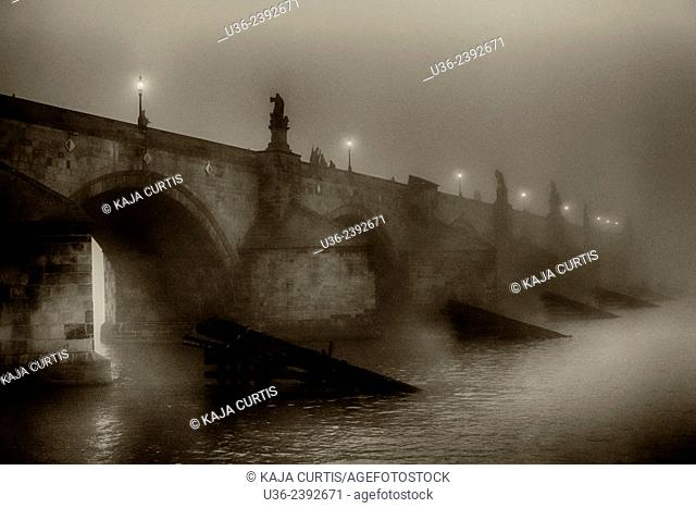 Foggy Charles Bridge