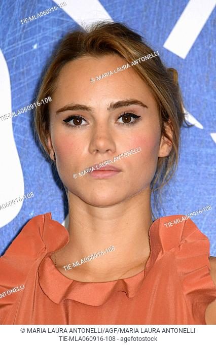 The actress Suki Waterhouse during the photocall of film The bad batch at 73rd Venice Film Festival, Venice-ITALY-06-09-2016