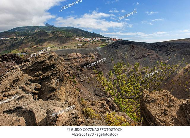Canary Islands (Spain), La Palma. Volcano San Antonio, near Fuencaliente