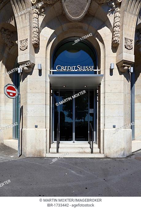 Credit Suisse, Lausanne, Canton Vaud, Lake Geneva, Switzerland, Europe