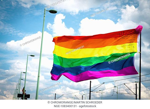 Flag of the gay and lesbian movement christopher street day