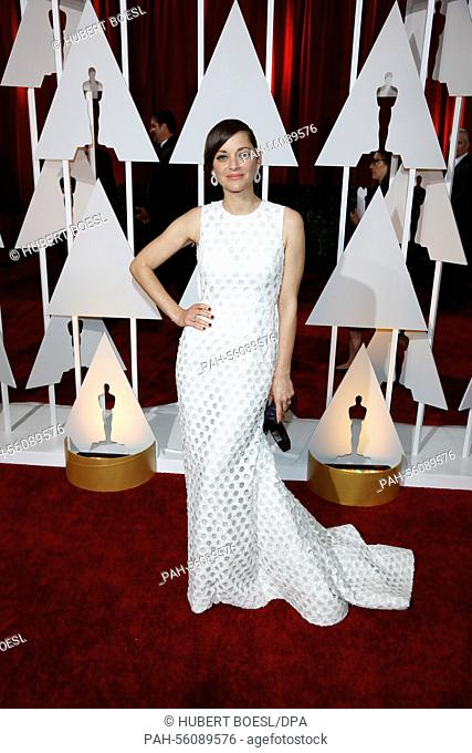 Actress Marion Cotillard attends the 87th Academy Awards, Oscars, at Dolby Theatre in Los Angeles, USA, on 22 February 2015