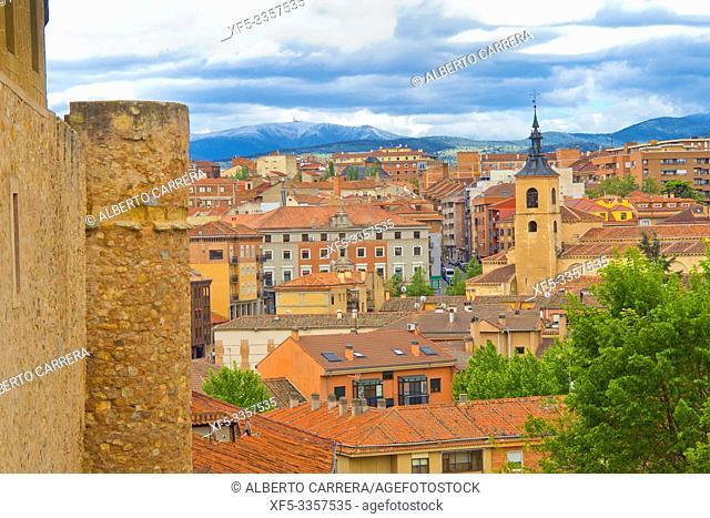 City View, Segovia, UNESCO World Heritage Site, Castilla y León, Spain, Europe