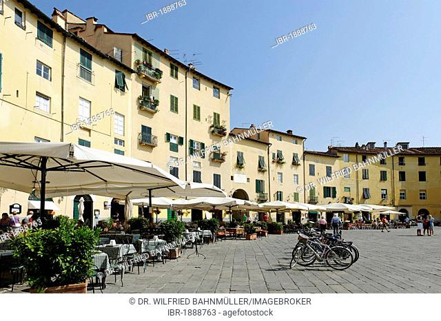 Piazza Anfiteatro, Lucca, Tuscany, Italy, Europe
