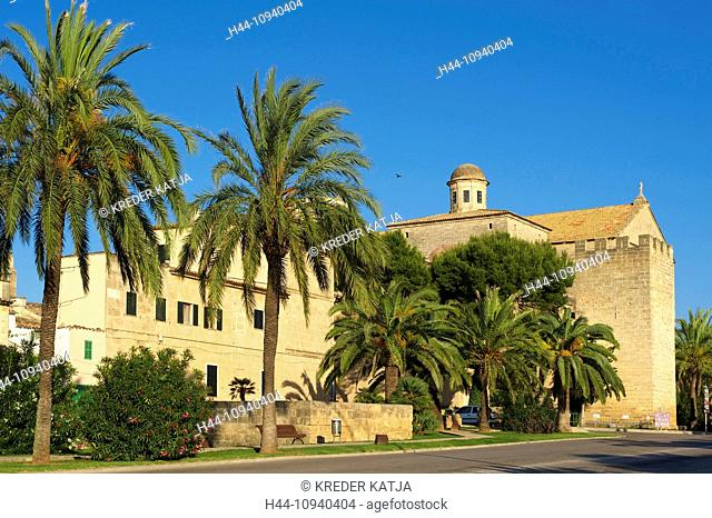 Balearic Islands, Majorca, Mallorca, Spain, Europe, outside, Alcudia, church, churches, architecture, building, buildings, buildings, constructions, religion