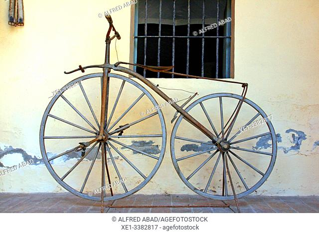 old bicycle, Can Papiol Romantic Museum, Vilanova i la Geltrú, Catalonia, Spain