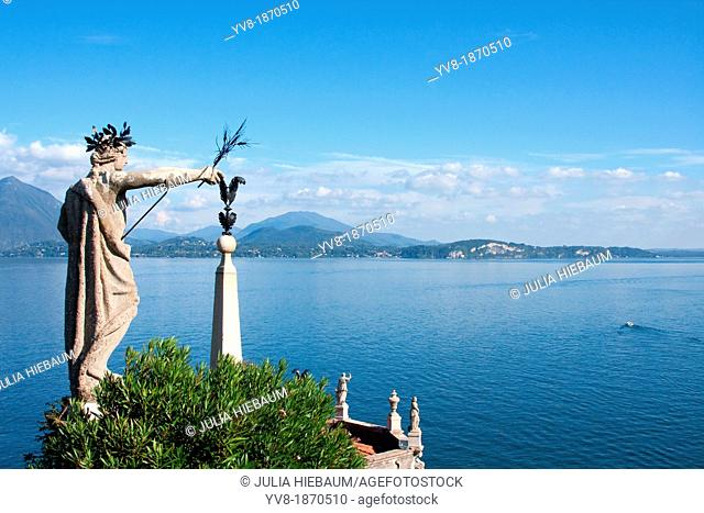 View of Lake Maggiore from Palace of Isola Bella, Italy