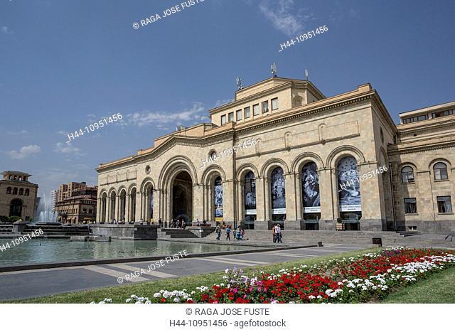 Armenia, South Caucasus, Caucasus, Eurasia, building, History, Gallery, Republic, Yerevan, downtown, flowers, museum, national, square