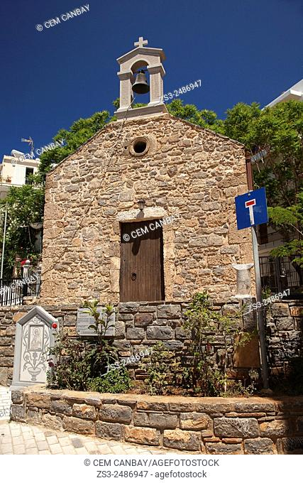 Church of Virgin Mary Vrefotrophos, Agios Nikolaos, Crete, Greek Islands, Greece, Europe