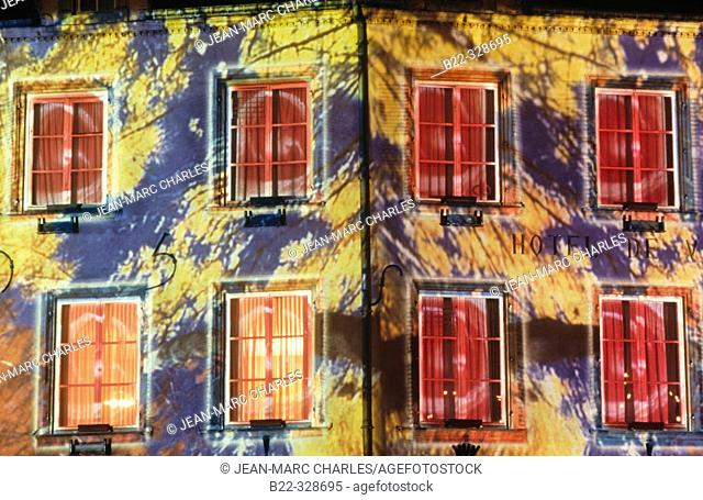 City Hall. Thionville Lumières 2002. Moselle. France
