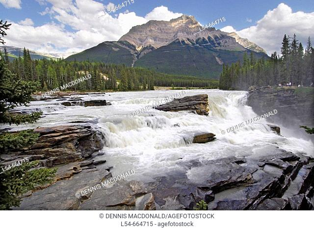 Athabasca Falls Jasper National Park Alberta Canada Canadian Rockies Canadian Rocky Mountains