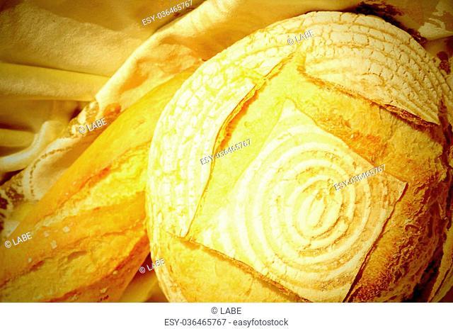 Organic bread village style homemade
