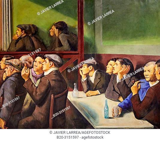 """""""Spectators"""", 1934, Francesc Domingo Segura, National Museum of Catalan Art, Museu Nacional d Art de Catalunya, MNAC, Barcelona, Spain, Europe"