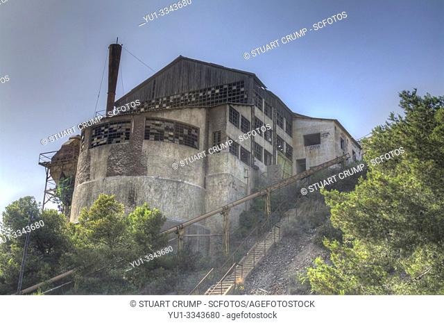 HDR image of a Disused mine in the town of Portman in Murcia, Spain