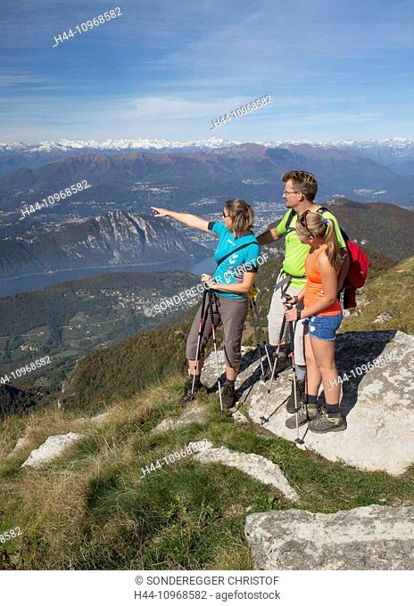 Ticino, walking, hiking, Monte Generoso, Lake Lugano, Alpine chain, autumn, canton, Ticino, Southern Switzerland, footpath, walking, hiking, Switzerland, Europe