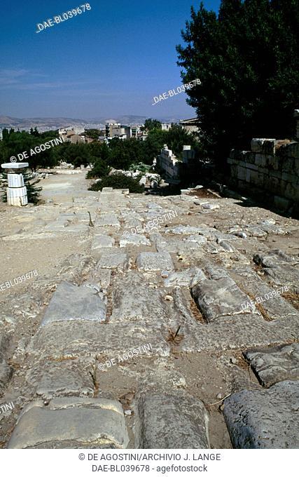 Agora ruins, Athens, Greece. Greek civilisation, 5th century BC
