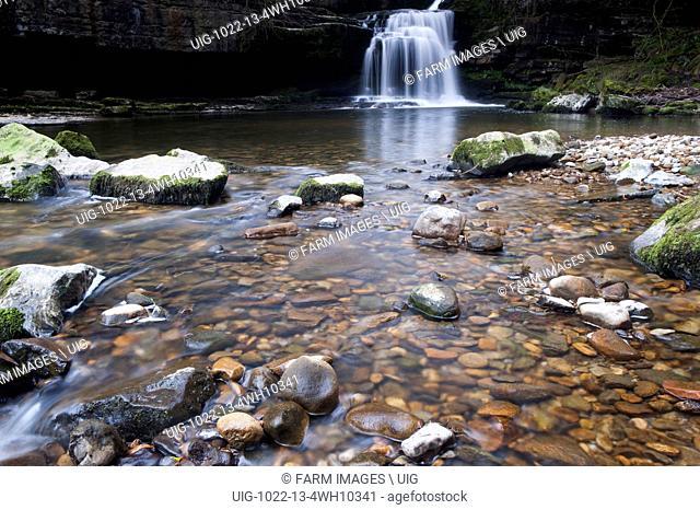 Cauldron Falls at West Burton, Wensleydale, North Yorkshire, UK. (Photo by: Wayne Hutchinson/Farm Images/UIG)