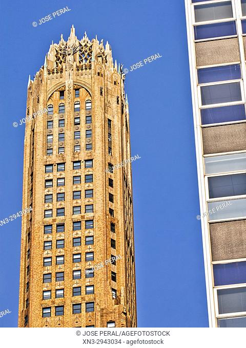 The General Electric Building, also known as 570 Lexington Avenue, Manhattan, New York, New York City, USA