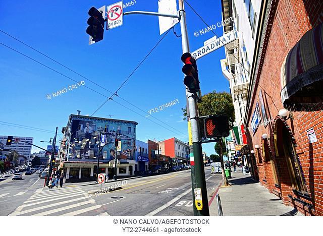 Broadway street in San Francisco