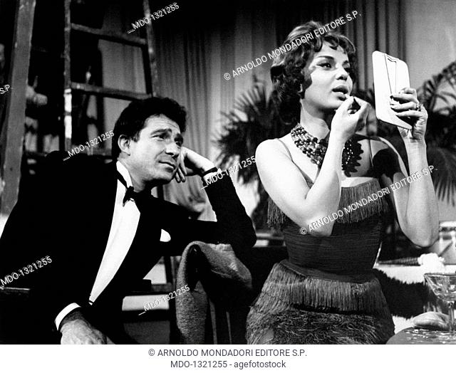 Abbe Lane and Ugo Tognazzi in 'My Friend, Dr Jekyll'. American actress and singer Abbe Lane (Abigail Lassman) and Italian actor Ugo Tognazzi acting in 'My...