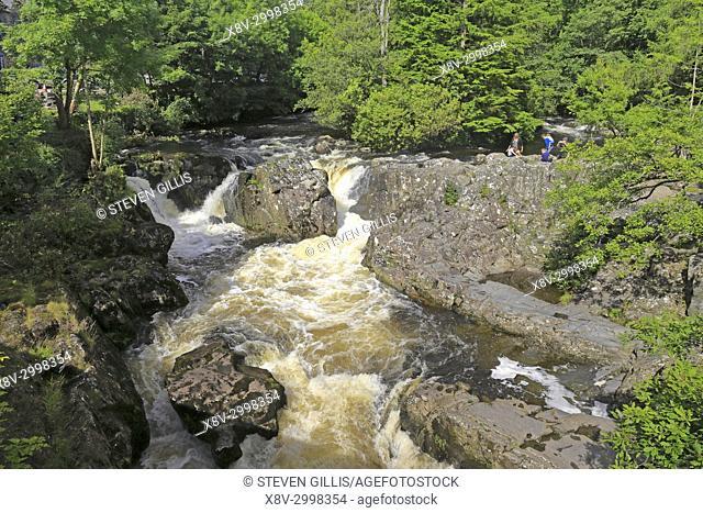 The Afon Llugwy, Betws-y-Coed, Snowdonia National Park, Conwy, North Wales, UK