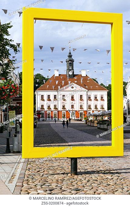 The Tartu City Council framed. Tartu, Tartu County, Estonia, Baltic states, Europe