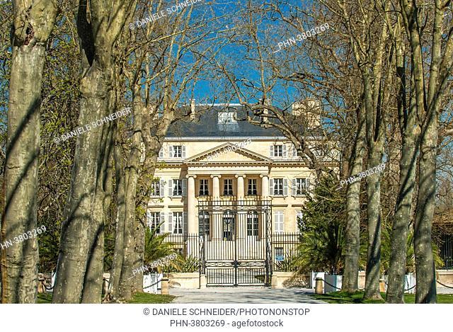 France, Gironde, Medoc, Chateau Margaux, AOC Margaux's First Grand Cru Classe
