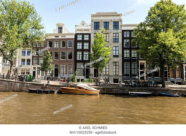 Historic gables and facades of canal houses, Old Town, Amsterdam, The Netherlands