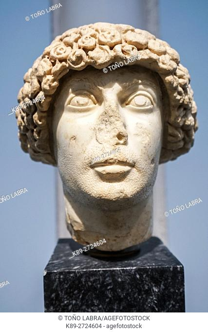 Governor with Constantinopolitan hairstyle. Aphrodisias Museum. Ancient Classic Greece. Asia Minor. Turkey