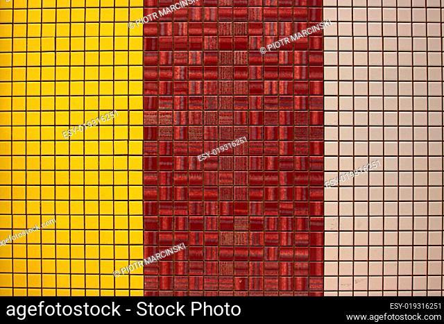 Glazed tile (mosaik) background