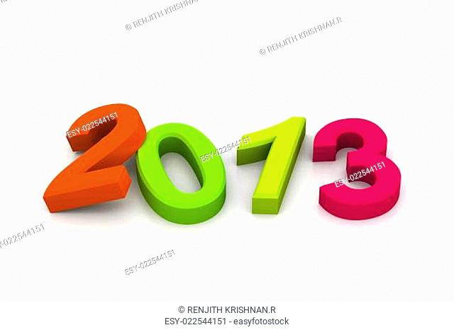 Year 2013 colorful digits