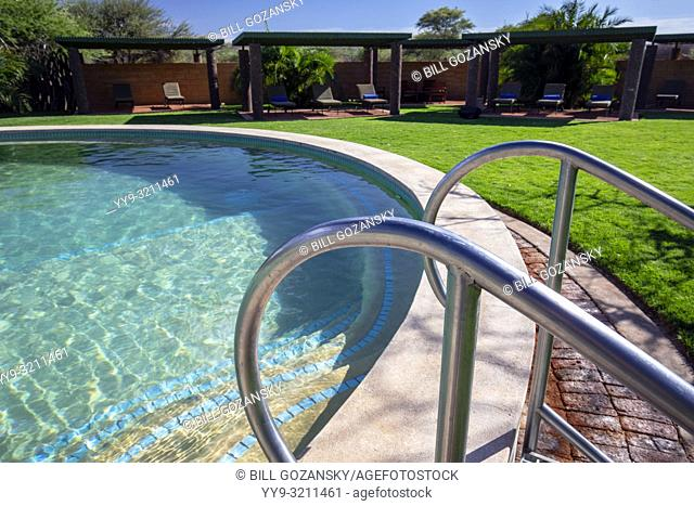 Swimming Pool at Okonjima Plains Camp, Okonjima Nature Reserve, Namibia, Africa