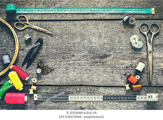 Sewing equipment, tools