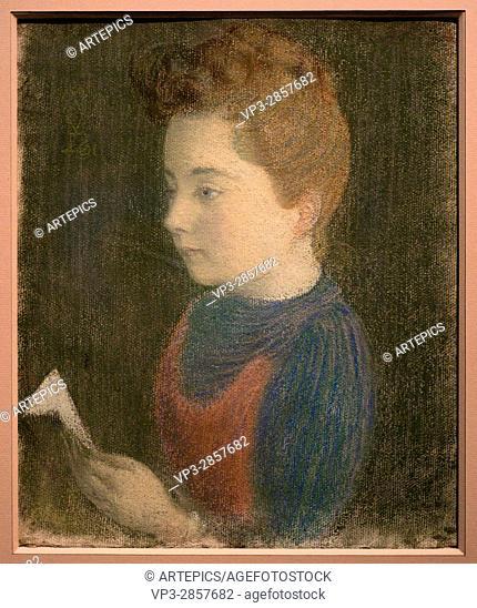 Maurice Denis. Marthe fiancée. 1891. XIX th Century. French school. Orsay Museum -Paris. Pastel