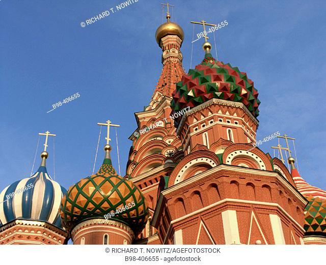 St. Basil's cathedral, Red Square. Moscow. Russia