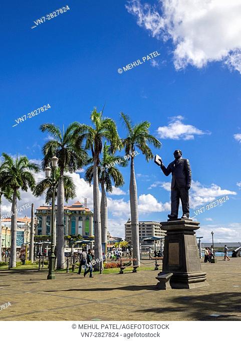 Statue of Sir Seewoosagur Ramgoolam, Caudan Waterfront, Port Louis, Mauritius