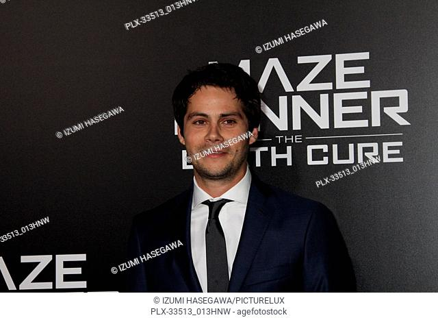 "Dylan O'Brien 01/18/2018 Red Carpet Fan Screening of """"Maze Runner: The Death Cure"""" held at AMC Century City 15 at Westfield Century City Mall in Los Angeles"